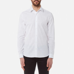 Versace Collection Men's All Over Pattern Long Sleeve Shirt - Bianco/Stampa
