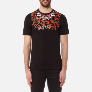 Versace Collection Men's Neck Detail T-Shirt - Nero/Stampa