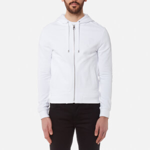 Versace Collection Men's Zip Through Hoody - Bianco Ottico