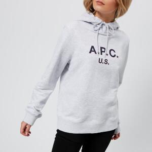 A.P.C. Women's U.S. Hoody Sweatshirt - Grey