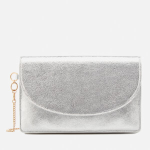 Diane von Furstenberg Women's Saddle Evening Clutch Bag - Silver