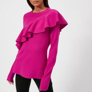Diane von Furstenberg Women's Ruffle Front Pullover Jumper - Ribbon Pink