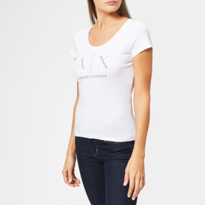 Armani Exchange Women's Fitted Logo T-Shirt - White