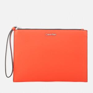 Calvin Klein Women's Edit Pouch Bag - Orange