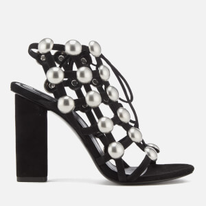 Alexander Wang Women's Rubie Suede Heeled Sandals - Black