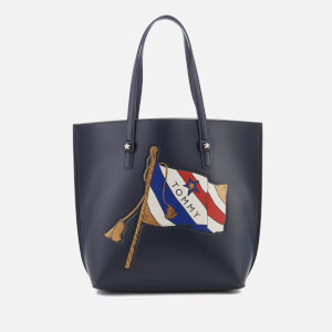 Tommy Hilfiger Women's The Effortless Tote Bag with Large Print - Navy