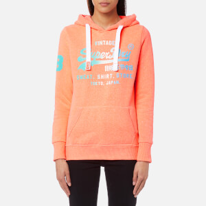 Superdry Women's Shirt Shop Fade Hoody - Coral Snowy
