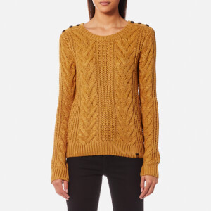 Superdry Women's Janna Cable Jumper - Ochre