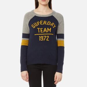 Superdry Women's Varsity Logo Knitted Jumper - Navy