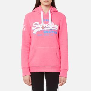 Superdry Women's Vintage Logo Tri Entry Hooded Sweatshirt - Snowy Pink