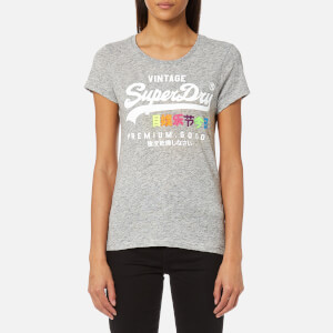 Superdry Women's Premium Goods Pop Entry T-Shirt - Jock Grey Nep