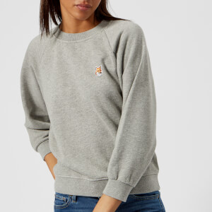 Maison Kitsuné Women's Fox Head Patch Sweatshirt - Grey