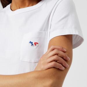 Maison Kitsuné Women's Tricolor Fox T-Shirt - White