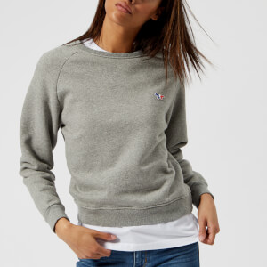 Maison Kitsuné Women's Tricolor Fox Patch Sweatshirt - Grey Melange