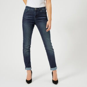 Emporio Armani Women's Dark Straight Leg Jeans - Blue
