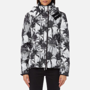 Superdry Women's Black Edition Windcheater Jacket - Mono Palm/Black/Neon Pink