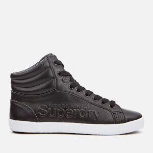 Superdry Women's Super Sleek Logo Hi-Top Trainers - Black