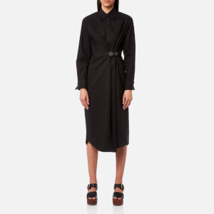 MM6 Maison Margiela Women's Parachute Poplin Dress - Black