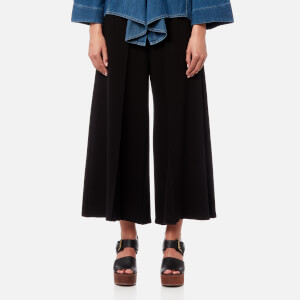 MM6 Maison Margiela Women's Structured Twill Jersey Trousers - Black