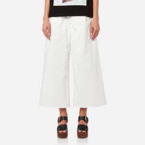 MM6 Maison Margiela Women's Military Cotton Trousers - Off White