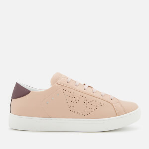 Emporio Armani Women's Shara Trainers - Nude/Burgundy