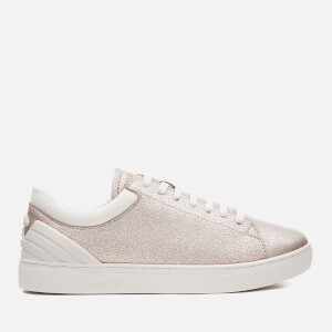 Emporio Armani Women's Alana Trainers - Light Brown/Silver