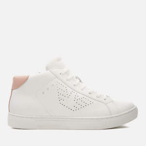 Emporio Armani Women's Shara Hi-Top Trainers - Optical White/Nude