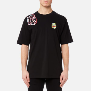Versus Versace Men's Neon Patch T-Shirt - Black