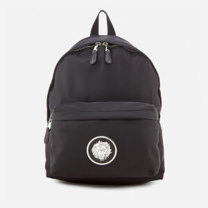 Versus Versace Men's Round Logo Back Pack - Black/Nickel