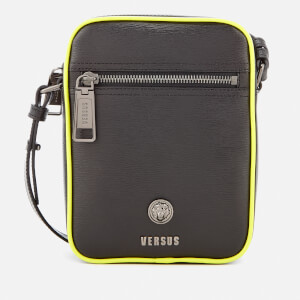 Versus Versace Men's Neon Detail Cross Body Bag - Black/Fluro Yellow