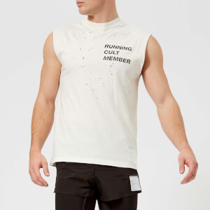 Satisfy Men's Cult Moth Eaten Muscle T-Shirt - Off White