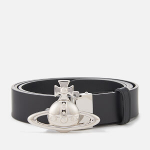 Vivienne Westwood Men's Large Orb Logo Belt - Black