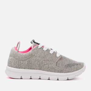 Superdry Women's Scuba Runner Trainers - Grey Grit/Fluro Pink