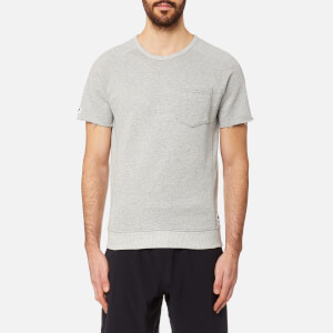 Superdry Men's Sport Gym Locked Short Sleeve Sweatshirt - Gym Grey Grit
