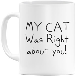 My Cat Was Right About You Mug