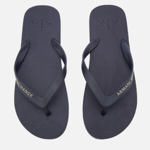 Armani Exchange Men's Solid Flip Flops - Navy