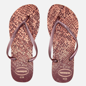 Havaianas Women's Slim Animals Flip Flops - Crocus Rose