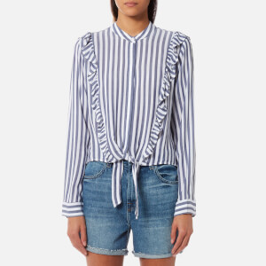 Rails Women's Piper Shirt - Ocean White Stripe