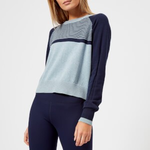 LNDR Women's Prism Crop Knitted Jumper - Light Blue Marl
