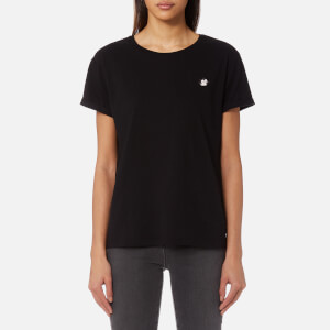 Maison Scotch Women's Felix Ams Blauw Basic T-Shirt - Black