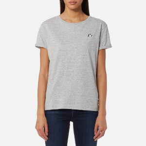 Maison Scotch Women's Felix Ams Blauw Basic T-Shirt - Grey Melange