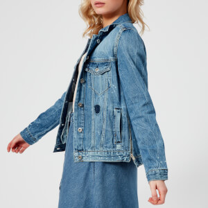 Maison Scotch Women's Customised Trucker Jacket - Blauw Me
