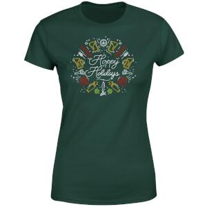 Hoppy Holidays Women's T-Shirt - Forest Green