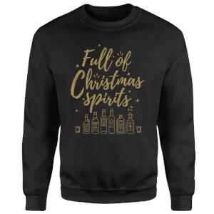 Full Of Christmas Spirits Sweatshirt - Black