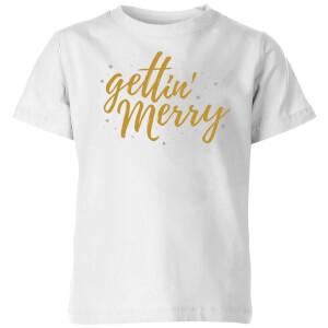 Gettin' Merry Kids' T-Shirt - White