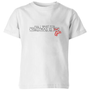 All I Want For Christmas Is Gin Kids' T-Shirt - White