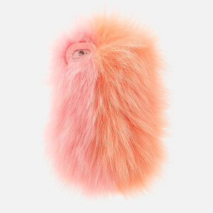 Charlotte Simone Women's Phone Fluff iPhone Case - Pastel Pink/Apricot