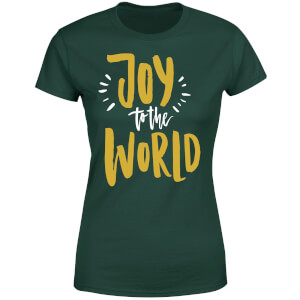 Joy to the World Women's T-Shirt - Forest Green