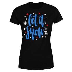 Let it Snow Women's T-Shirt - Black