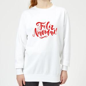 Feliz Navidad Women's Sweatshirt - White
